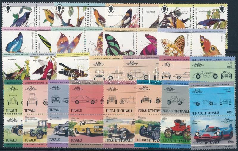 Live world, car 1984-1985 5 sets + 3 stamps, Élővilág, autó motívum 1984-1985 5 klf sor + 3 klf önálló érték