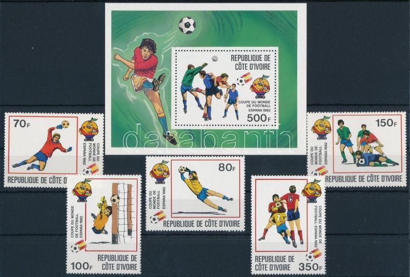 Labdarúgó VB győztes Spanyolország sor + blokk, Football World Cup Winner Spain set + block