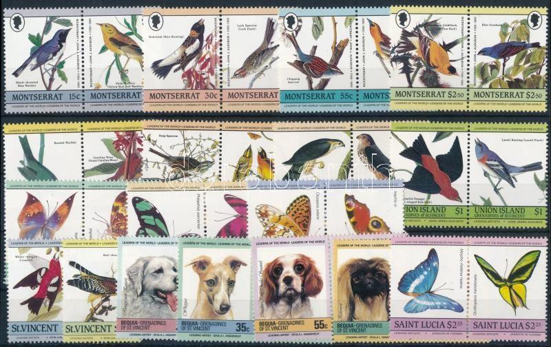 Animals 4 sets + 2 stamps, Állat motívum 4 klf sor + 2 klf önálló érték