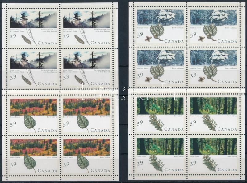 Canadian forests mini sheet set, Kanadai erdők kisívsor