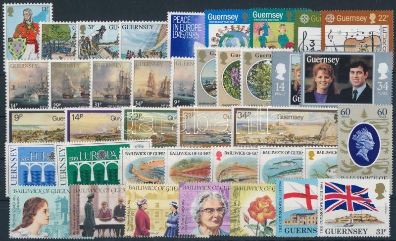 1984-1986 39 diff stamps, 1984-1986 39 db klf bélyeg, közte teljes sorok stecklapon