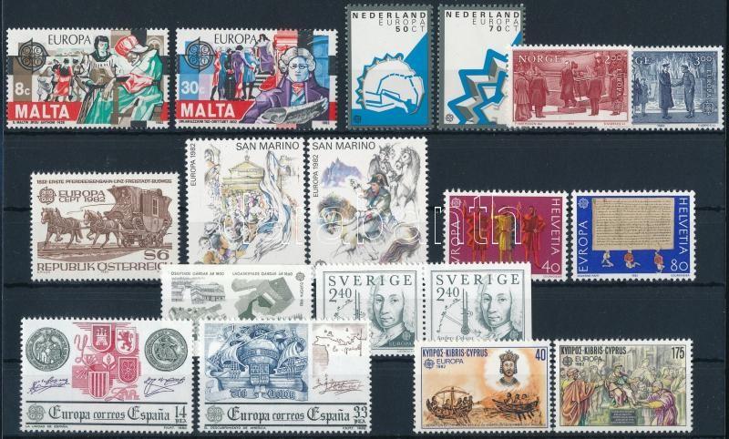 Europa CEPT 8 sets + 2 blocks + 1 stamp, Europa CEPT motívum 8 klf sor + 2 blokk + 1 db önálló érték