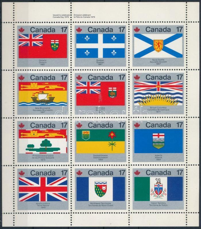 Flag complete sheet, Zászló teljes ív
