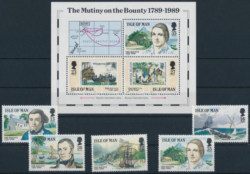 The Mutiny on the Bounty set + block, Lázadás a Bountyn sor + blokk