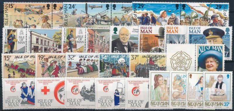 1989-1990 29 diff stamps, 1989-1990 29 db klf bélyeg, közte teljes sorok és összefüggések