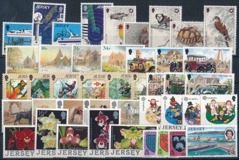 1988-1989 43 diff stamps, 1988-1989 43 db klf bélyeg, közte teljes sorok