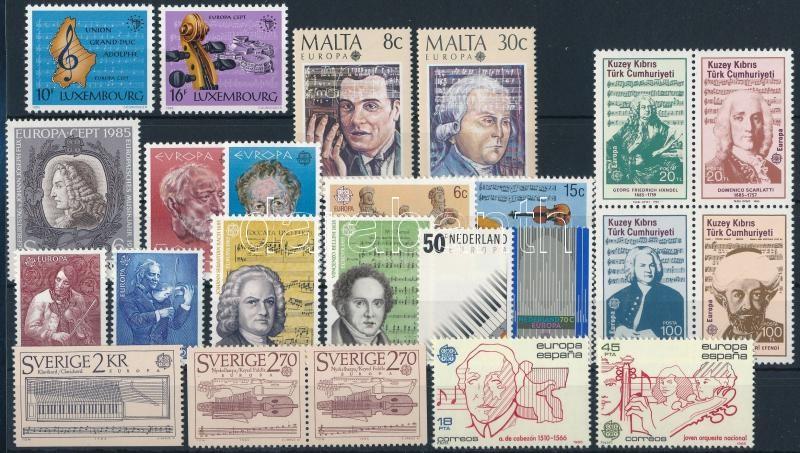 Europa CEPT 9 sets + 1 block + 1 stamp, Europa CEPT motívum 9 klf sor + 1 blokk + 1 önálló érték