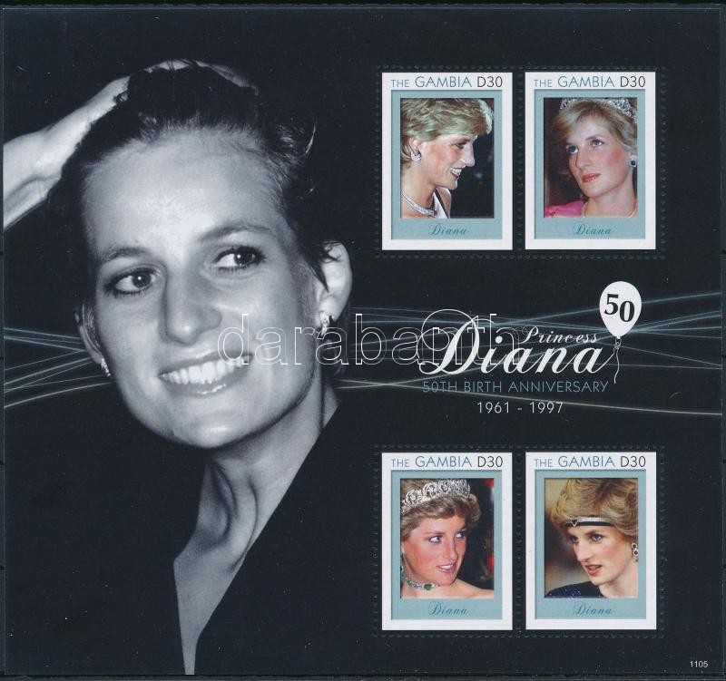 Princess Diana mini sheet, Diana hercegnő kisív