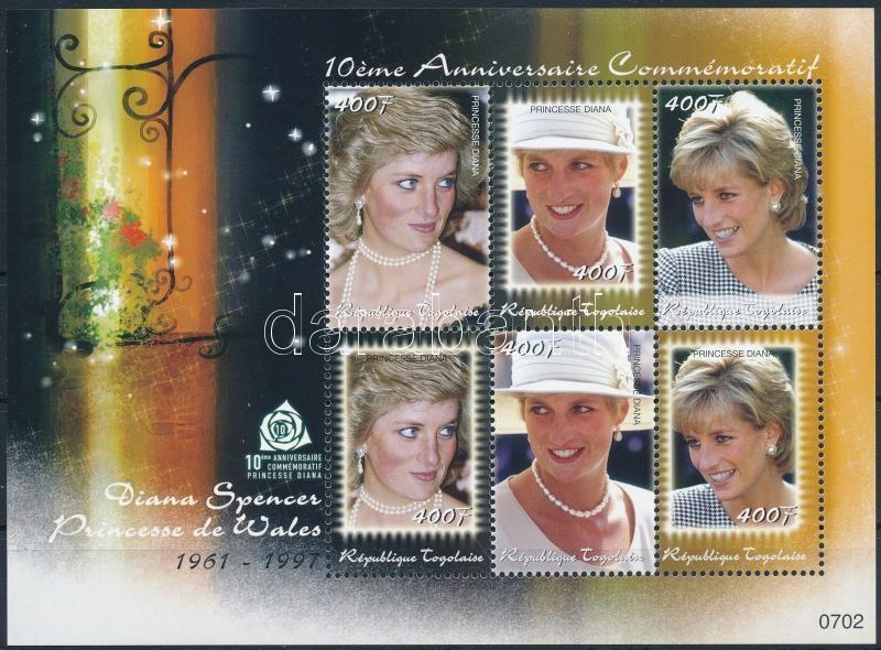 Princess Diana mini sheet, Diana hercegnő halálának 10. évfordulója kisív