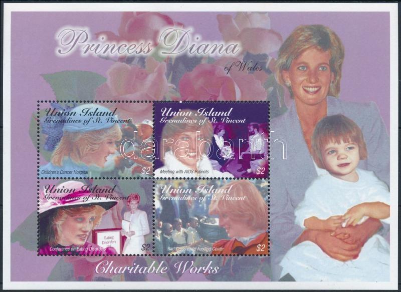 Princess Diana block, Diana hercegnő kisív