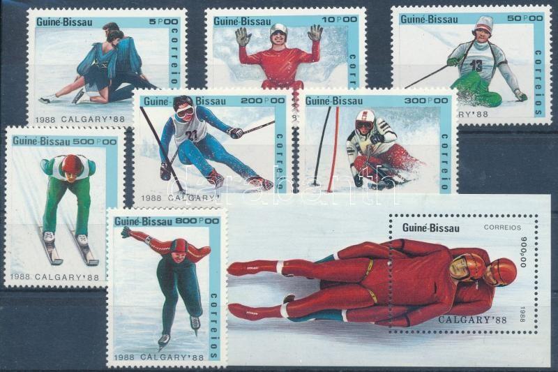 Winter Olympics, Calgary set + block, Téli olimpia, Calgary sor + blokk
