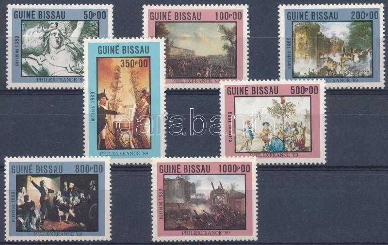 International Stamp Exhibition PHILEXFRANCE Paris 200th anniversary of French Revolution set, Nemzetközi bélyegkiállítás PHILEXFRANCE: Párizs - 200 éves a francia forradalom sor