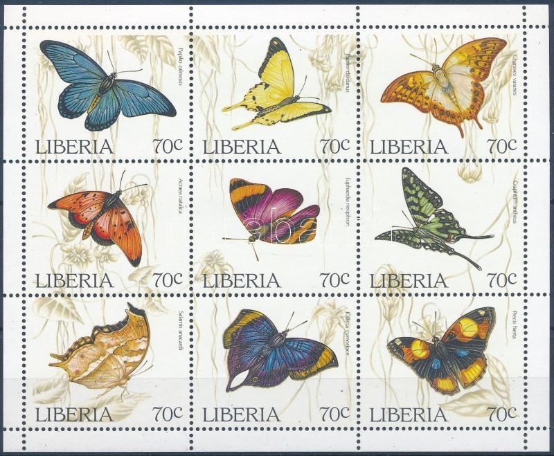 Butterflies minisheet, Lepkék kisív
