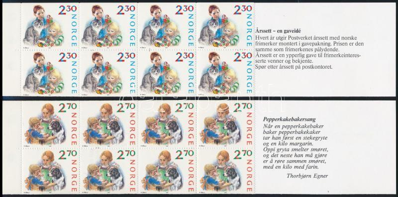Christmas stamp booklet pair, Karácsony bélyegfüzetpár