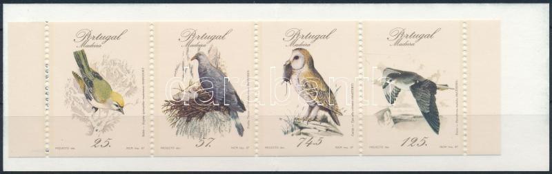 Birds stamp booklet, Madarak bélyegfüzet