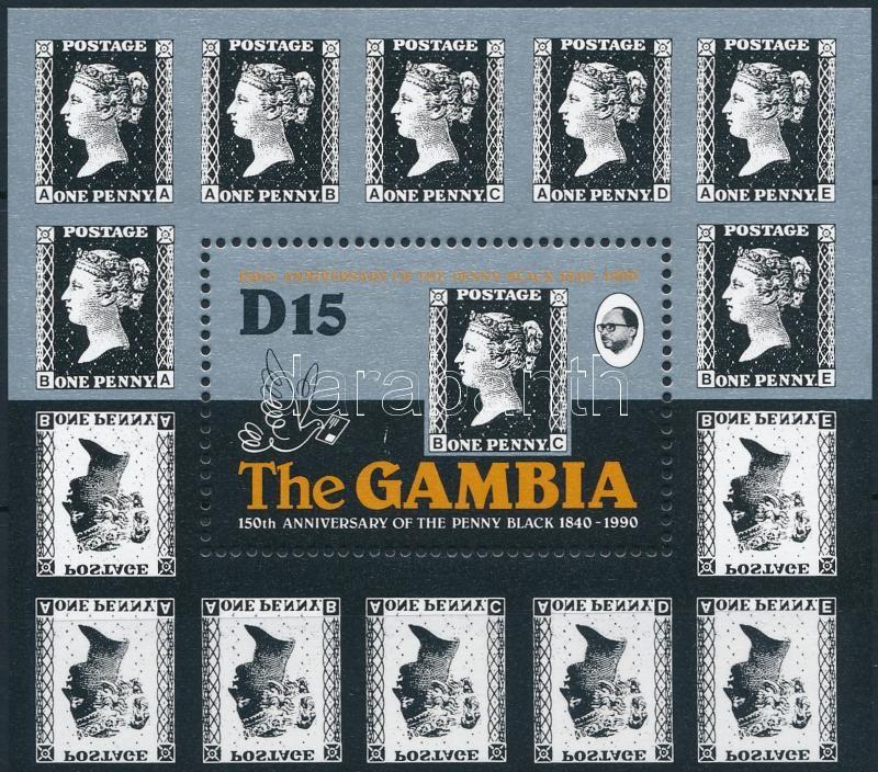 150th anniversary of stamp, Black Penny anniversary block, 150 éves a bélyeg, Black Penny évforduló blokk