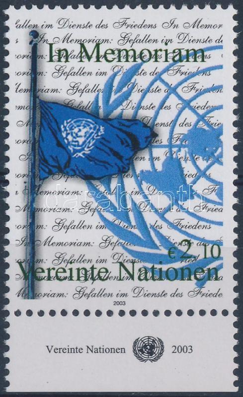 Definitive: To commemorate the peaceful warriors margin stamp, Forgalmi: A békeharcosok emlékére ívszéli bélyeg