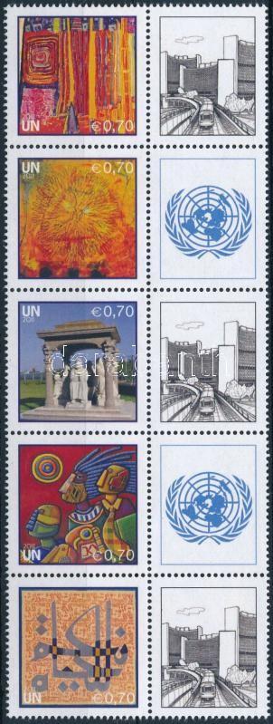 Greeting stamp block of 10, Üdvözlőbélyeg 10-es tömb