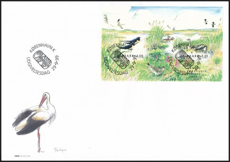 Bird block FDC, Madár blokk FDC-n