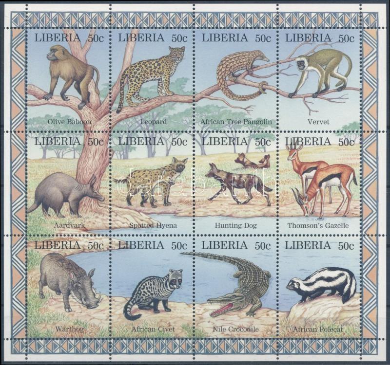 Animals mini sheet, Állat kisív