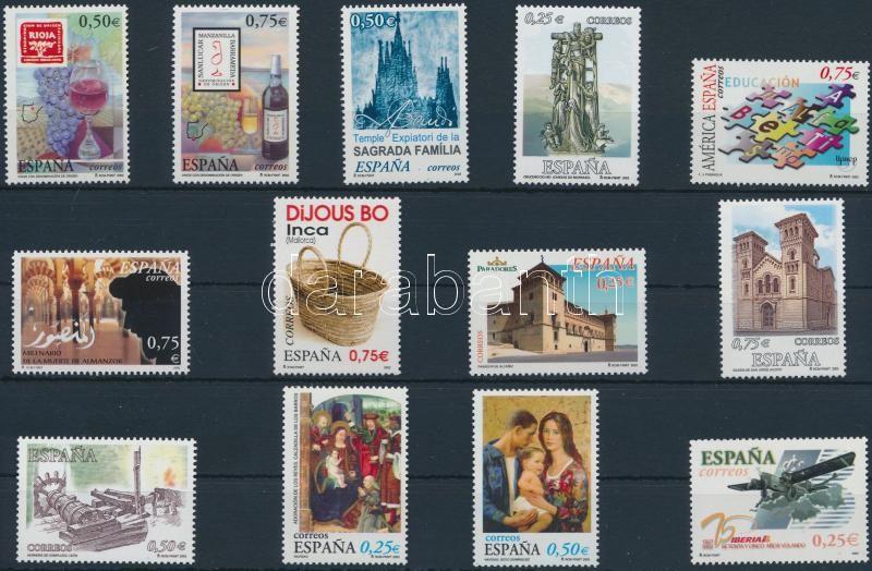 13 stamps + 1 block, 13 klf bélyeg + 1 blokk