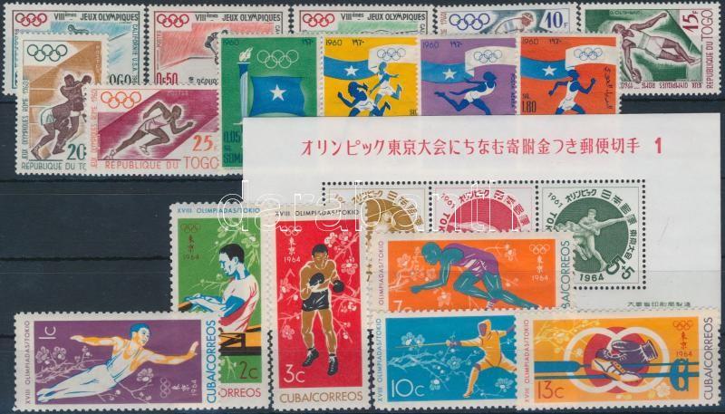 1960-1961 Olympics, Sport 3 sets + 1 block, 1960-1961 Olimpia, sport motívum 3 sor + 1 blokk