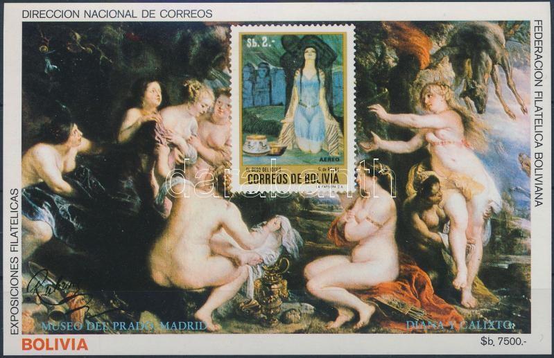 Rubens paintings imperforated block, Rubens festmény vágott blokk