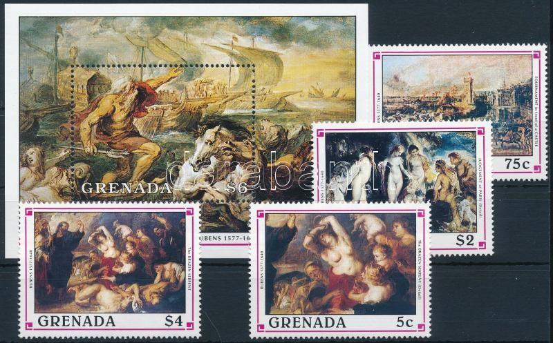 Rubens painting + block, Rubens festmény + blokk