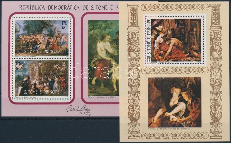 Rubens paintings 2 blocks, Rubens festmény 2 klf blokk