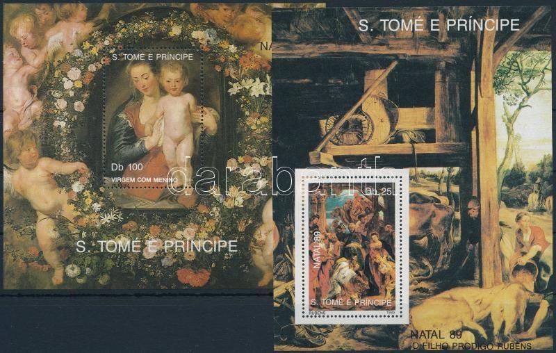 Rubens paintings 2 blocks, Rubens festmény 2 db blokk