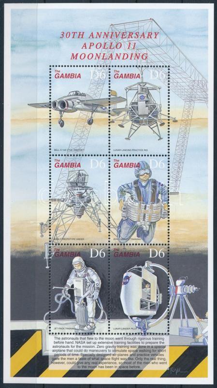 30th anniversary of First man on the Moon mini sheet, 30 éve járt az első ember a Holdon kisív