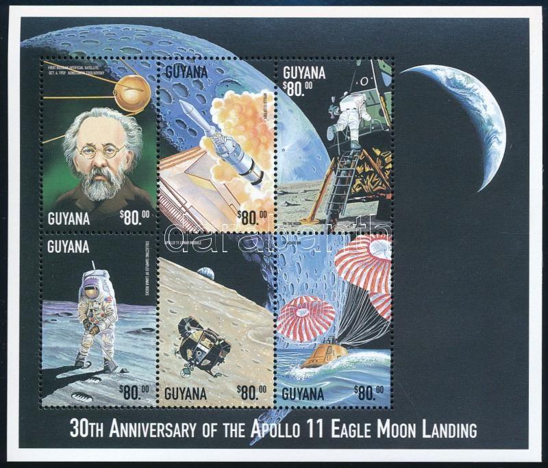 30 éve járt az első ember a Holdon kisív, 30th anniversary of First man on the Moon minisheet