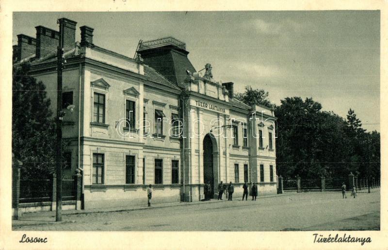 Lucenec, military artillery barracks, Losonc, Tüzér laktanya