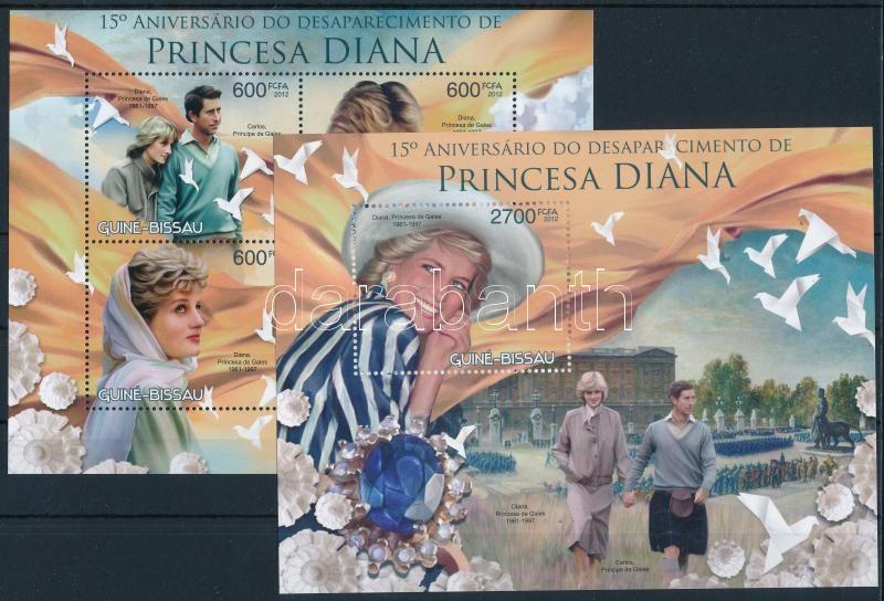 Princess Diana's death anniversary mini sheet + block, Diana hercegnő halálának 15. évfordulója kisív + blokk