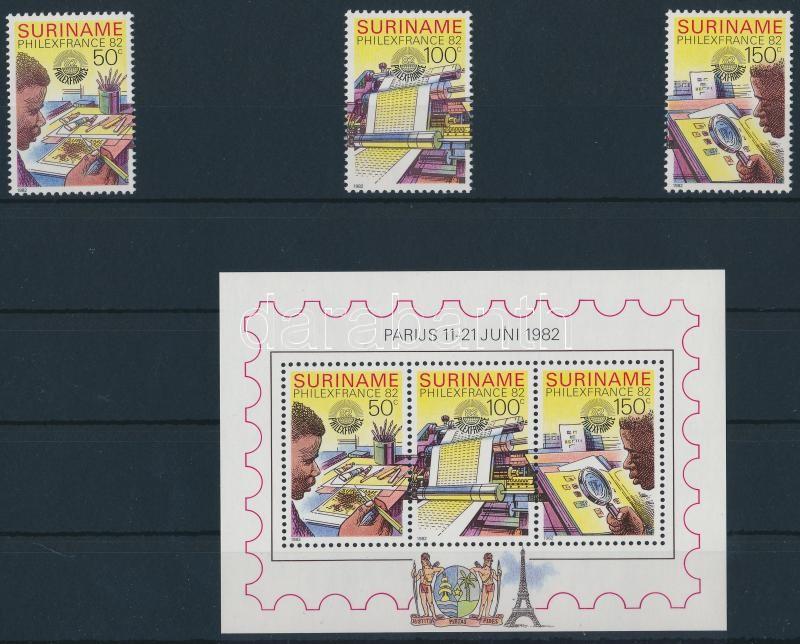 Nemzetközi bélyegkiállítás sor + blokk, International Stamp Exhibition set + block