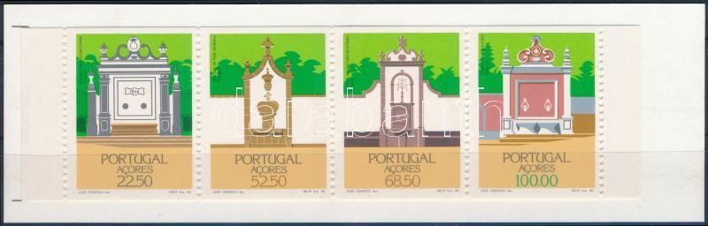 Buildings, wells stamp-booklet, Építmények, kutak bélyegfüzet