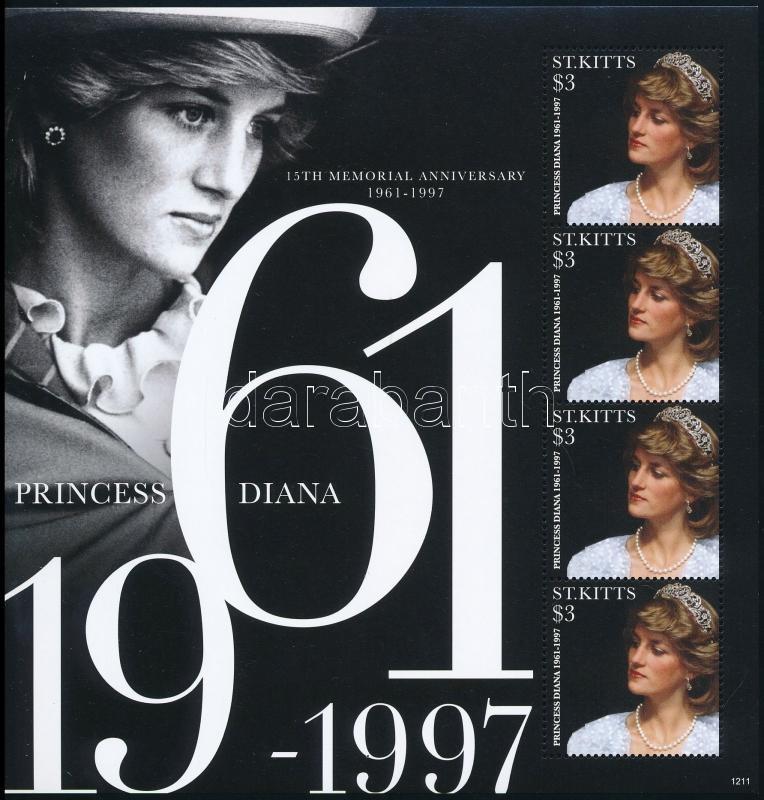 Princess Diana mini sheet, Diana hercegnő halálának 15. évfordulója kisív