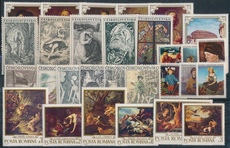 European countries 1968-1973 Paintings 5 sets, Európai országok 1968-1973 Festmény motívum 5 db teljes sor