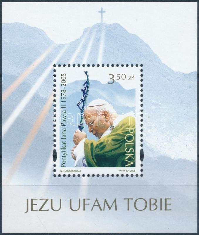 In memory of Pope John Paul II. block, II. János Pál pápa emlékére blokk