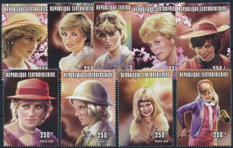 Anniversary of Princess Diana's death 9 closing values, Diana hercegnő halálának évfordulója 9 db záróérték