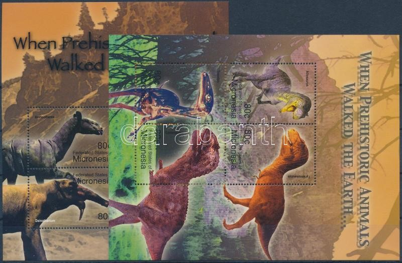 Animals 2 mini sheets, Ősállatok 2 db kisív