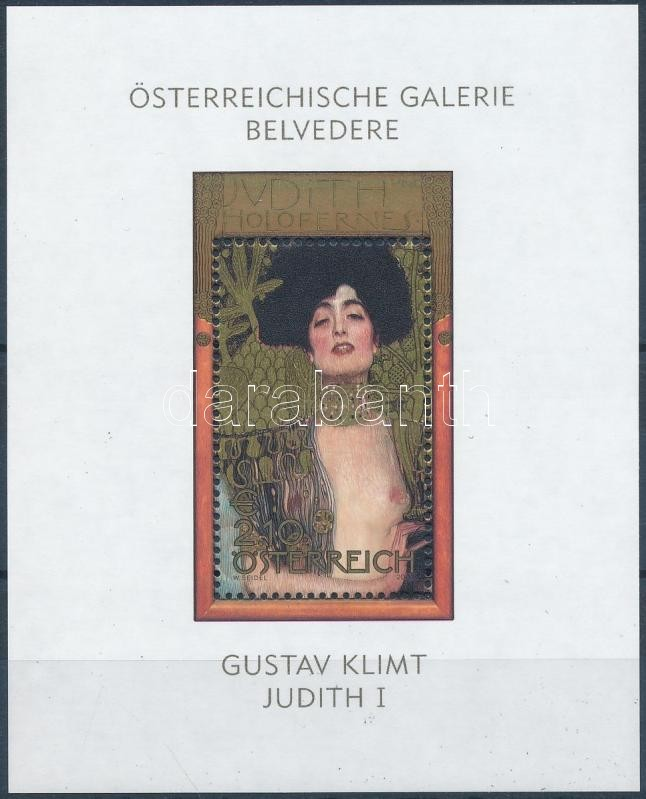 Klimt paintings block, Klimt festmény blokk