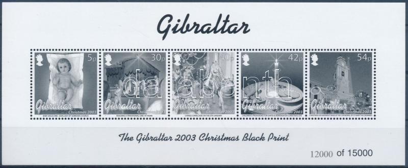 Christmas blackprint block, Karácsony feketenyomat blokk