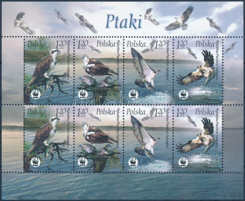 WWF: Halászsasok kisív, WWF Osprey mini sheet