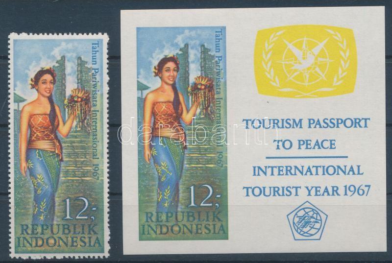Year of tourism + imperforated block, A turizmus éve + vágott blokk
