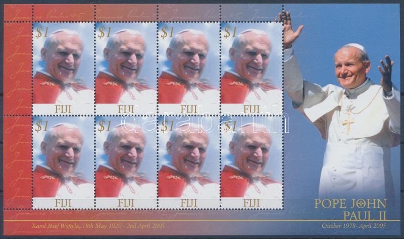 Pope John Paul II  minisheet, In Memoriam II János Pál pápa kisív
