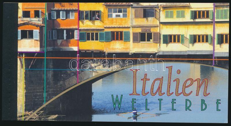 UNESCO - Italy stamp booklet, UNESCO-világörökség: Olaszország bélyegfüzet