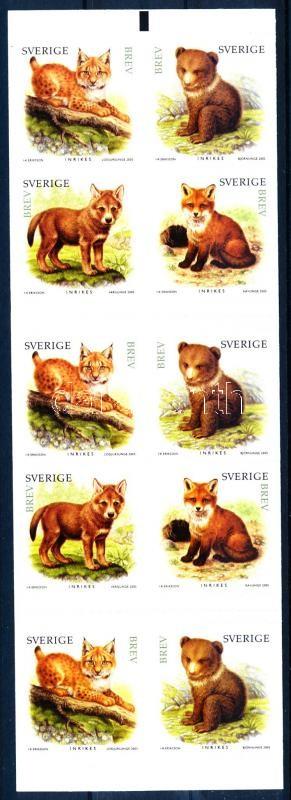 Puppy stamp-booklet, Állat kölykök bélyegfüzet