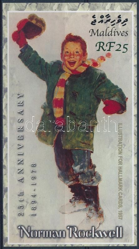 Norman Rockwell painting block, Norman Rockwell festmény blokk