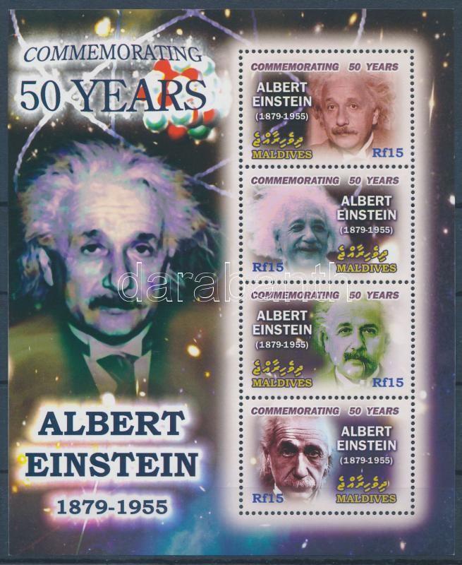 Albert Einstein mini sheet, Albert Einstein kisív